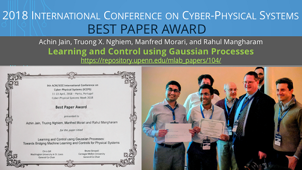 ICCPS 2018 Best Paper Award